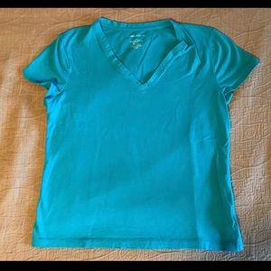 Lord & Taylor Tops - Lord & Taylor Petite Large Blue Cotton Tshirt